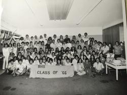 10th Class Reunion group photo. Need your help identifying the faces.